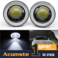 "2X Waterproof 2.5"" Car Projector LED Fog Light COB Chip Halo Angel Eye Ring Bulb"