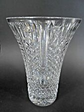 "Signed Waterford~FINE CRYSTAL GLASS MASTER CUTTER 10""H LARGE VASE~Ireland"