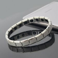 Couple Germanium Titanium Steel Elastic Bracelet Stretch Bracelet Bangle Fo X1J7