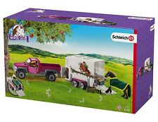 NEW Schleich Horse Club Pick Up Truck w/Horse Box Trailer SC42346 Gift Kids Boys