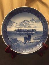 1968 Royal Copenhagen Blue Christmas Plate The Last Umiak