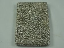 More details for stunning victorian silver card case, 1879, 94gm