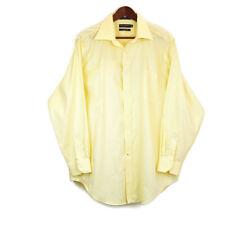 Daniel Cremieux Mens 17 3/4 Dress Shirt Yellow Button Up Long Sleeve Richard