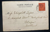1903 Gibraltar Picture Postcard Cover To Glasgow Scotland Tanger Market