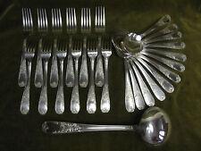 menagère metal argente rocaille fleurs (dinner forks soup spoons) ATD
