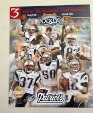 New England Patriots Super Bowl Team 8x10 Photofile Gold Limited Ed Photo/Poster