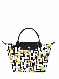 LONGCHAMP X POKEMON Pikachu Le Pliage Top Handle Bag S / LIMITED EDITION NEW