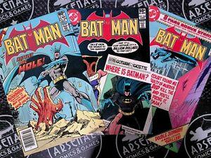 Batman #328, 336, 340 Set 1980 FN 6.0 DC Comics JLA Dark Knight Robin Joker