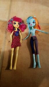 My little pony Equestria Girl Dolls. Lot of 2. Some accessories. Read