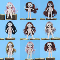 16cm Ball Jointed Girl Nude BJD Doll Body