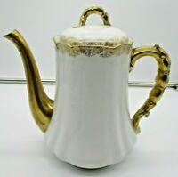 Limoges France LS & S Gold Trim Tea Pot Chip on Spout