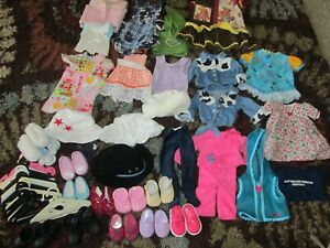 """18"""" Doll Lot American Girl Battat Accessories Clothes Shoes / Boots/ Hangers"""