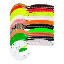 10Pcs Tail Soft Lure 7cm 3.5g Worm jig Wobbler Grub Fishing Lures