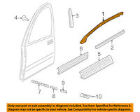 25778955 2003-2007 Cadillac CTS New OEM LH Front Door Upper Weatherstrip