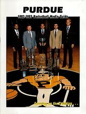 1982-83 Purdue University Basketball Media Guide  W2