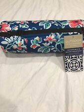 """Nicole Miller Dylan Floral Outdoor Picnic Blanket 50"""" X 60"""" - New"""