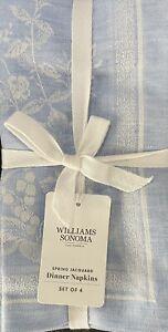 Williams-Sonoma Spring Jacquard Napkins Set/4 In Blue Bell