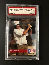 1992 92 Pro Set Golf TOM LEHMAN RC#173 PSA 10 ONLY 2 PSA 10 in Population Report