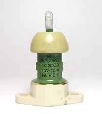 Draloric Kondensator, 100 pF / 8 kV, TC 20X50, Hochspannung / Hochfrequenz