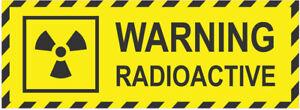 Warning RADIOACTIVE Danger Safety Vinyl Sticker Tag Product