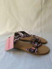 Girls GYMBOREE Brown Braided Rhinestone  Sandals Sz 12 NWT