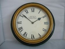 "Thomas Kent Large Wall Clock ""Greenwich London"" Made in England"