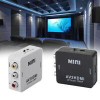 1080p AVtoHDMI RCA Video Converter AV2HDMI Adattatore Per HDTV PS4 Proiettore T