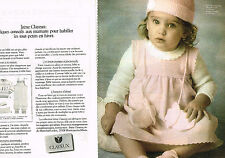 PUBLICITE ADVERTISING 104  1981  CLAYEUX  layette  ( 2 pages)