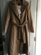 BNWT  TED BAKER Wide Collar Long Wool Coat SIZE 2