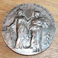 médaille en argent enseignement agricole signée alphée Dubois