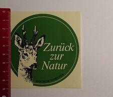 Aufkleber/Sticker: Zurück zur Natur Böcker Foresta (08031768)