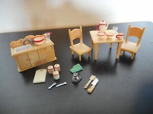 Calico Critters country style dining room furniture set