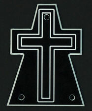 GUITAR TRUSS ROD COVER - Engraved - Fits JACKSON - CROSS - OVERSIZED XL - BLACK