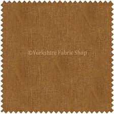 Soft Thin Linen Effect Honey Gold Colour Curtains Upholstery Fabric Code 972