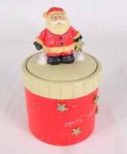 Christmas Santa Trinket Ceramic Box Container