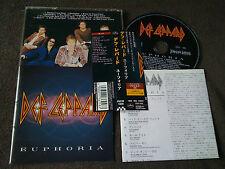 DEF LEPPARD /euphoria /JAPAN LTD CD OBI bonus track