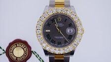 Rolex Date Just II 41mm Two Tone 18k YG & SS 6.00 Ct Diamond Bezel ASAAR DEAL