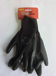 2 pairs builders latex coated gloves work safety X Large, Free Post!