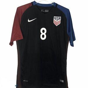 Nike USA Soccer Jersey 2016 Clint Dempsey # 8 Black Football America RARE