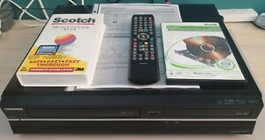 Toshiba DVR19DTKB2 VHS DVD Recorder Copy VHS to DVD HDMI Remote DVR19 & Manual