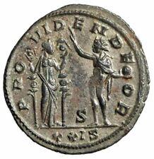 "Aurelian Silvered Antoninianus ""PROVIDEN DEOR Sol & Fides"" Siscia RIC 256 Scarce"