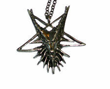 Secret Occult Satan Baphomet Goat Demon Ritual Cult Devil Pendant Chain 999 666