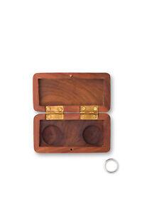 Wedding Ring Box Pocket Size Wooden
