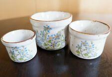 Pretty Vintage Set of Three Small Vases Planters
