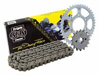 Triple S 520 O-Ring Chain and Sprocket Kit Black Ducati Monster 696 Set 2008-09