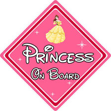 Disney Princess On Board Car Sign – Belle From Beauty & The Beast