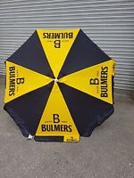 Bulmers cider 1.8 MTR ROUND PARASOL PUB GARDEN CAFE YELLOW BLACK BRAND NEW