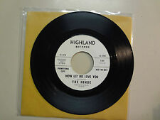 "HINGE:Now Let Me Love You 2:47-I'll Pretend 2:16-U.S.7"" Highland Records 1194 DJ"
