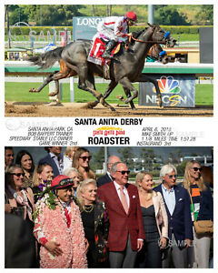 ROADSTER SANTA ANITA DERBY 2019 PHOTO 10 X 8