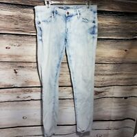 Mossimo Low Rise Skinny Jeans Women's Size 8 Light Acid Wash Jeans